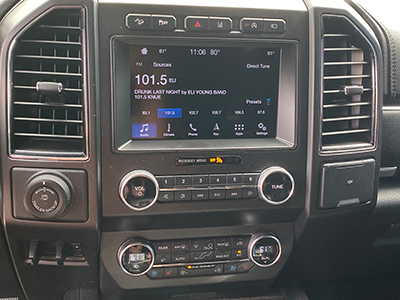 2019 Ford dash image